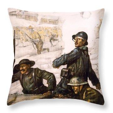 Pour La Victoire - W W 1 - 1918 Throw Pillow by Daniel Hagerman