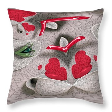 Pouring Her Heart Out Throw Pillow