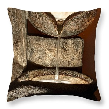 Pouring Out Water Art Prints Throw Pillow by Valerie Garner