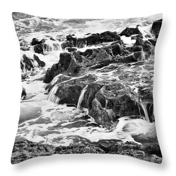 Pouring Rocks Throw Pillow