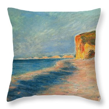 Pourville Near Dieppe Throw Pillow by Claude Monet