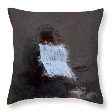Poverty In The Us Throw Pillow