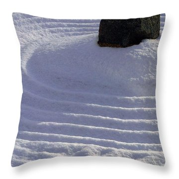 Powder In Zen One Throw Pillow by Feile Case