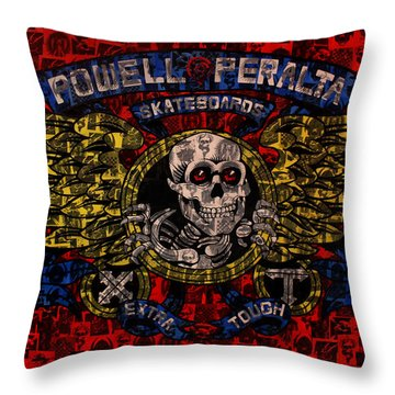 Powell Peralta Throw Pillow