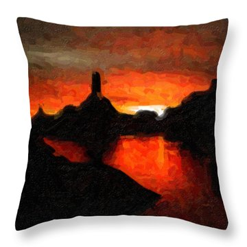 Powell Sunset Throw Pillow