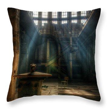 Power Beams Throw Pillow