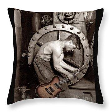 Power Chord Mechanic Throw Pillow