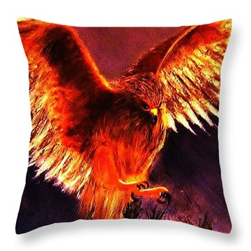 Throw Pillow featuring the painting Power.. by Cristina Mihailescu