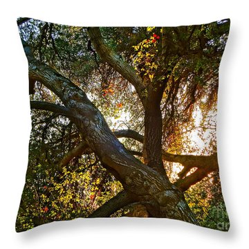 Power Entwined Throw Pillow