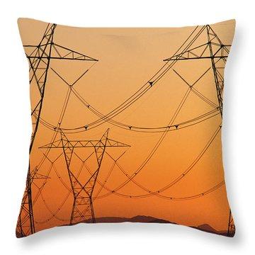 Power Line Throw Pillow