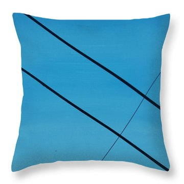 Power Lines 07 Throw Pillow by Ronda Stephens