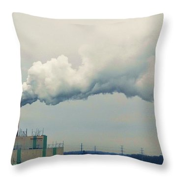 Throw Pillow featuring the photograph Power by Mary Zeman
