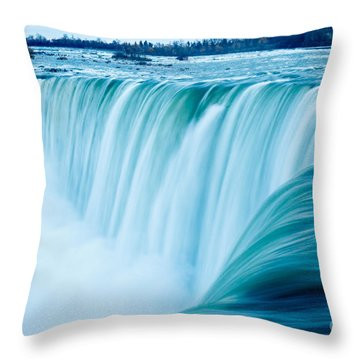 Power Of Niagara Falls Throw Pillow by Peta Thames