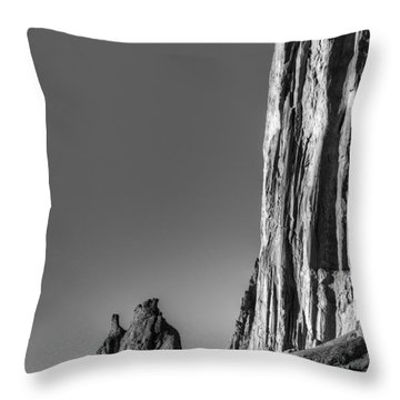 Power Of Stone Throw Pillow by Bob Christopher