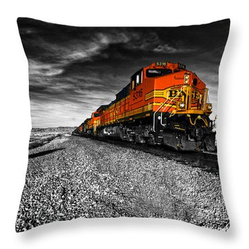 Power Of The Santa Fe  Throw Pillow by Rob Hawkins
