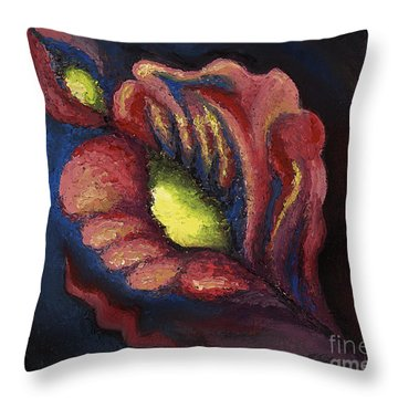 Power Petal Throw Pillow by Tiffany Davis-Rustam