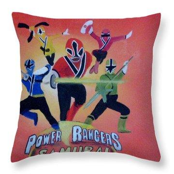 Power Rangers Samurai Throw Pillow by Rich Fotia
