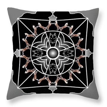 Power Shield Throw Pillow