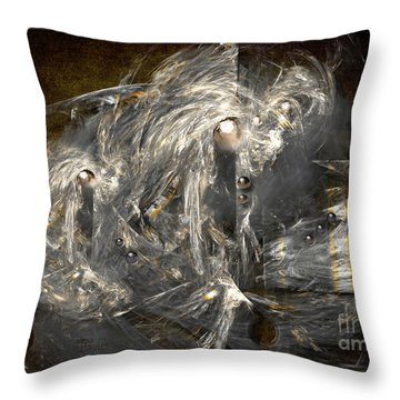 Light Energy Power Station Throw Pillow