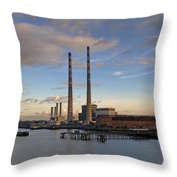 Power Station Throw Pillow