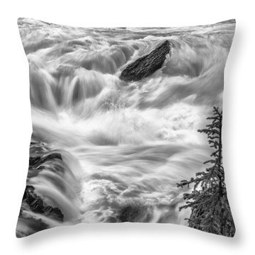 Power Stream Throw Pillow