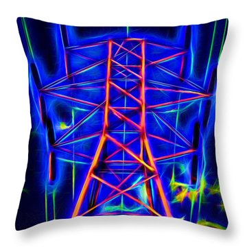 Power Tower To Glow Throw Pillow