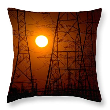 Power Throw Pillow by Travis Burgess