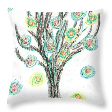 Power Tree Throw Pillow