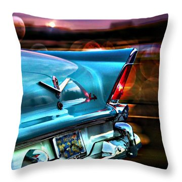 Old Car Throw Pillow featuring the photograph Powerflite by Aaron Berg