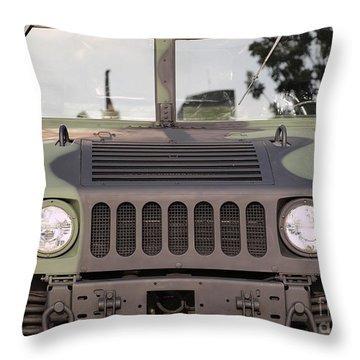 Powerful Army Off Road Vehicle Throw Pillow