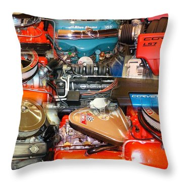 Powerful Corvette Motors Throw Pillow
