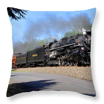 Powerful Nickel Plate Berkshire Throw Pillow