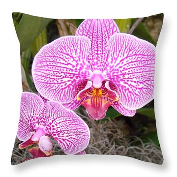 Powerful Pink Throw Pillow
