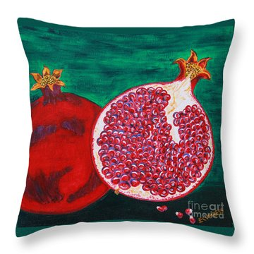 Powerful Poms Throw Pillow