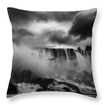 Famous Waterfall Throw Pillows