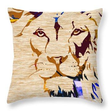 Powerful Wildlife Tiger Throw Pillow