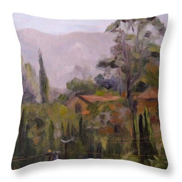 Powerline Checkpoint Throw Pillow by Athena Mantle