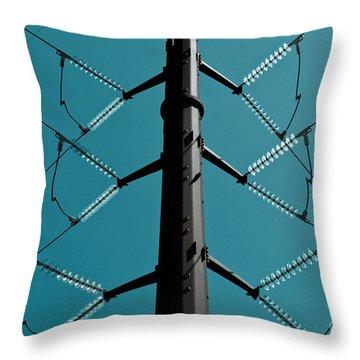 Powerlinescoldtone-2 Throw Pillow