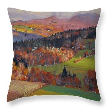 Pownel Vermont Throw Pillow by Len Stomski