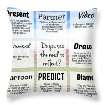 Practice Reflection Throw Pillow