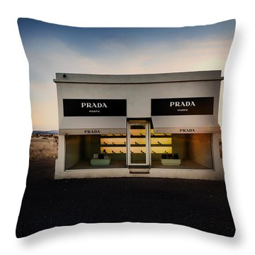 Prada Marfa Throw Pillow