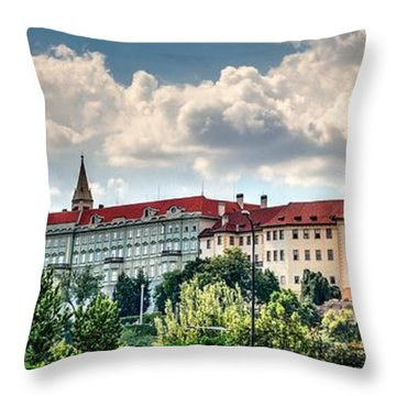 Throw Pillow featuring the photograph Prague Castle by Joe  Ng