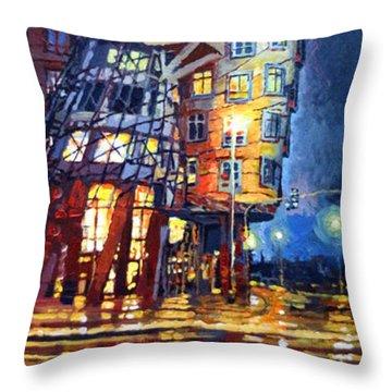 Prague Dancing House  Throw Pillow