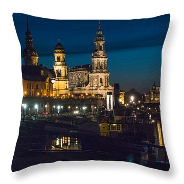 Dresden In Evening Throw Pillow