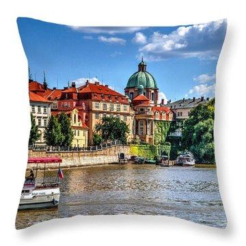 Throw Pillow featuring the photograph Prague by Joe  Ng