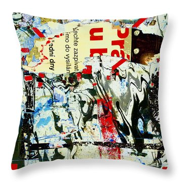 Prague Spring Throw Pillow by Dominic Piperata