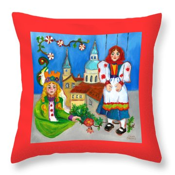Prague Throw Pillow by Susan Thomas