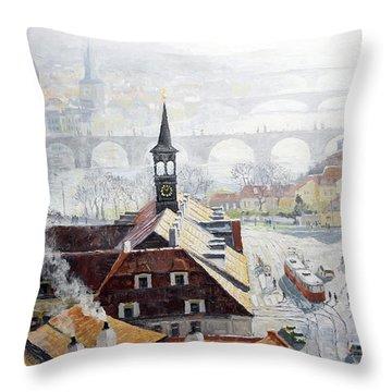 Praha Early Spring  Throw Pillow by Yuriy Shevchuk