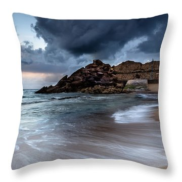 Praia Formosa Throw Pillow by Edgar Laureano