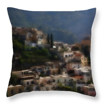 Praiano Amalfi Coast Throw Pillow